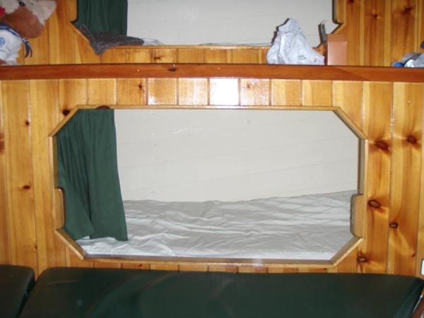 the bunk I occupied for the duration of the voyage. it was cosy, and usually very messy, not like this image!