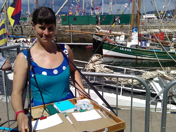 Exhausted from the sail, collecting drawings of boats wasn