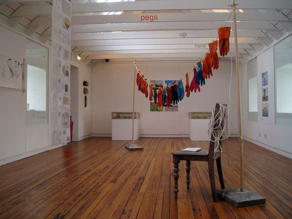 view of exhibition at Bonhoga Gallery, 2005
